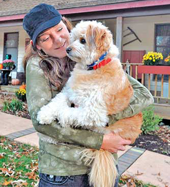 Jennifer DeStefani with her little hero Bandit. (The Associated Press)