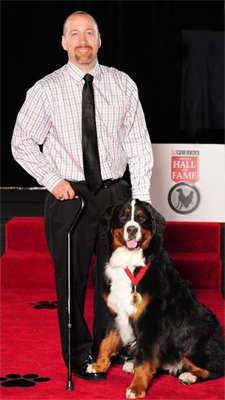 Bella and her owner were inducted into the Purina Animal Hall of Fame.