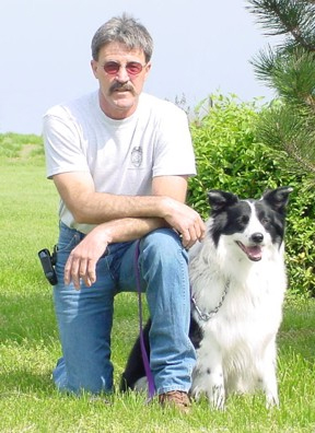 Crash and his owner Billy Tom Vaughn.