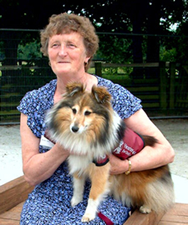 Ann Barford and her hearing dog Jinty.