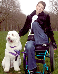 Joanne Day and her assistance dog Kaiser