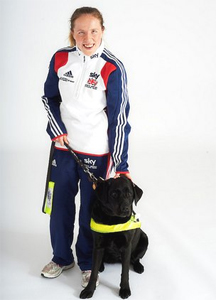 Guide Dog For Paralympic Cyclist