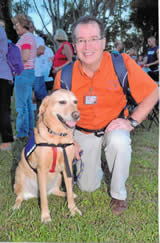 Charley and Tom DeCicco. (Photo from Therapy Dogs of South Florida)