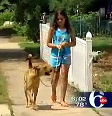 Jessica and her dog Princess. (Photo taken from ABC News Ch. 6)