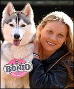 Rio and her owner Michelle Smart.