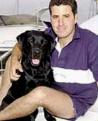 Todd and his owner Peter Loizou. (Photo: BBC News)