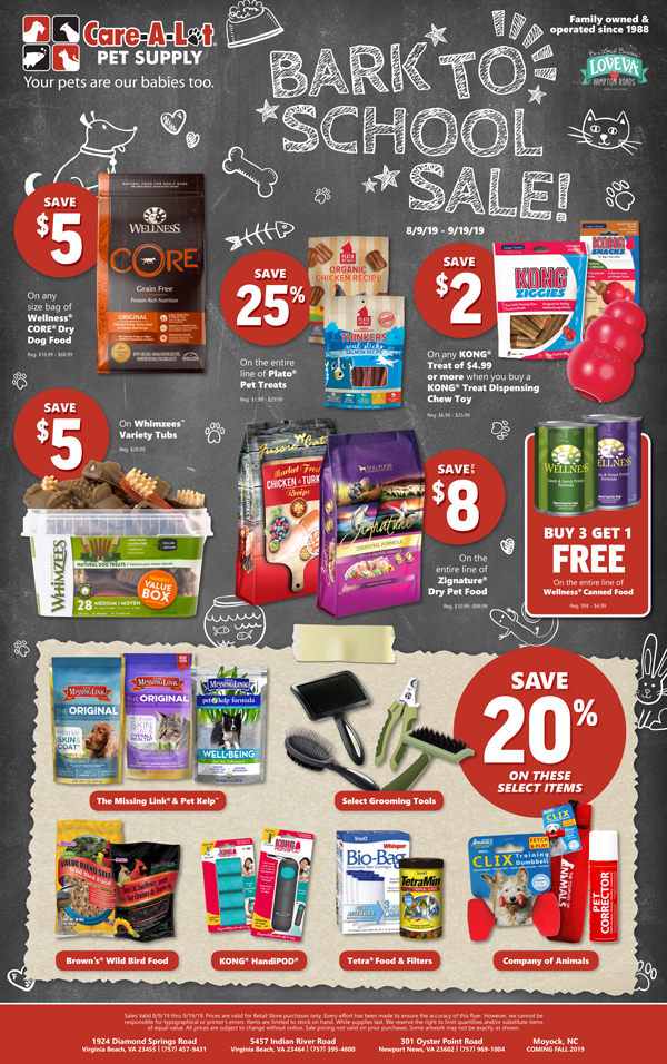 In-Store Sales Flyer - Care-A-Lot Pet Supply
