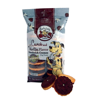 Exclusively Dog® Sandwich Cookies Carob and Vanilla 8 oz. 26321