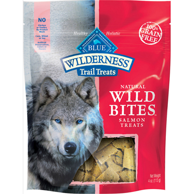 Blue Buffalo BLUE™ Wilderness™ Natural Wild Bites™ Dog Treats Salmon 4 oz.  I004025