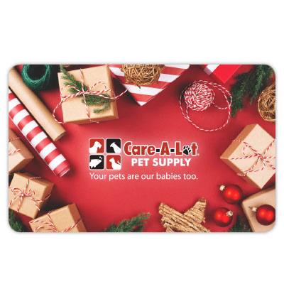 Care-A-Lot® Pet Supply Dog Holiday Gift Cards DogHoliday