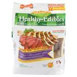 Nylabone® Healthy Edibles® Chicken and Roast Beef 4.5 inch Regular Bones 70534