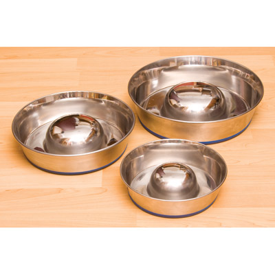 Durapet ™ Slow-Feed Stainless Steel Bowls 131090b