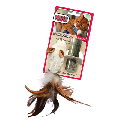 Kong® Feather Mouse Catnip Toy 15642