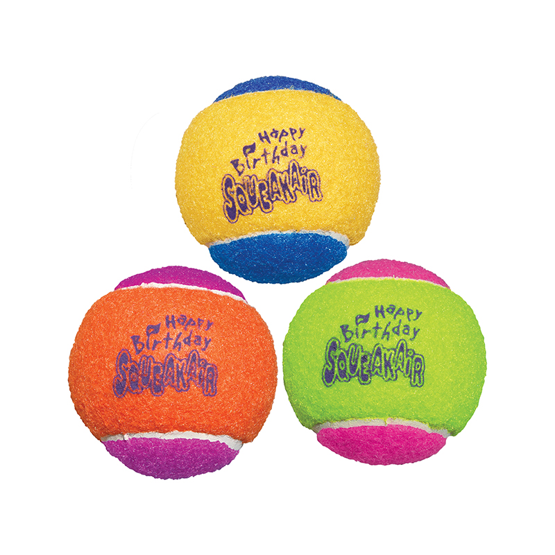 Kong® Happy Birthday Squeaker Tennis Balls 3 Pack 16260