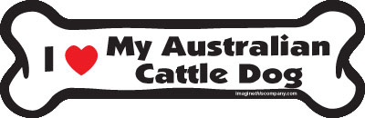 "I Love My Australian Cattle Dog Bone Magnet 7"" 19050030"