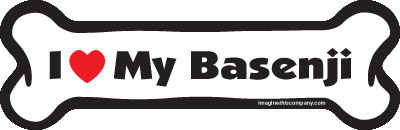 "I Love My Basenji Dog Bone Magnet 7"" 19050050"