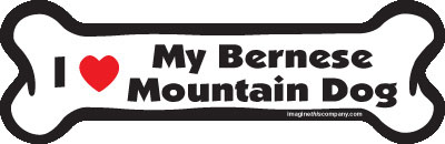 "I Love My Bernese Mountain Dog Bone Magnet 7"" 19050090"