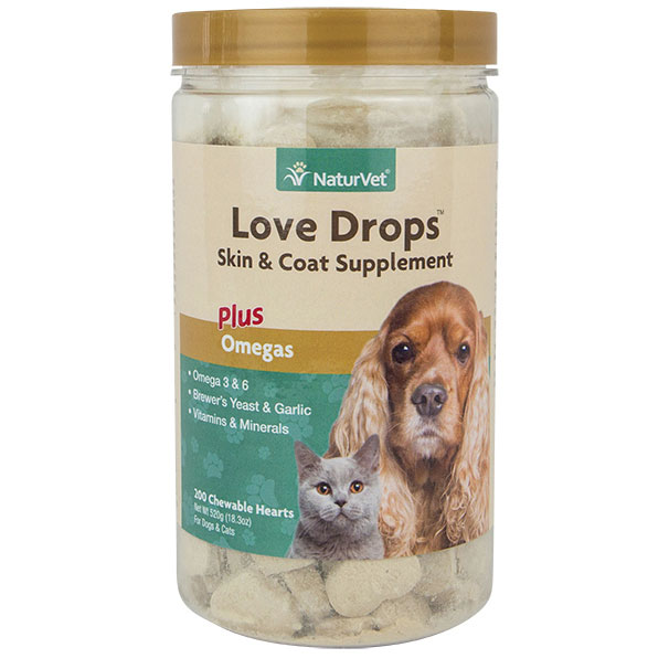 NaturVet® Love Drops™ Yeast & Garlic Tabs 200 ct. 2236