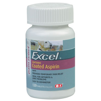Excel Coated Aspirin for Dogs 81 mg. 120 ct. 2285