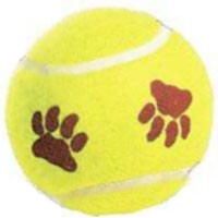Mint Flavor Paw Print Tennis Ball Dog Toy 298e