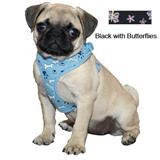 Coastal® Li'l Pals™ Mesh Harness Black With Butterflies 3/8 inch x 10 inch - 16 inch 308001