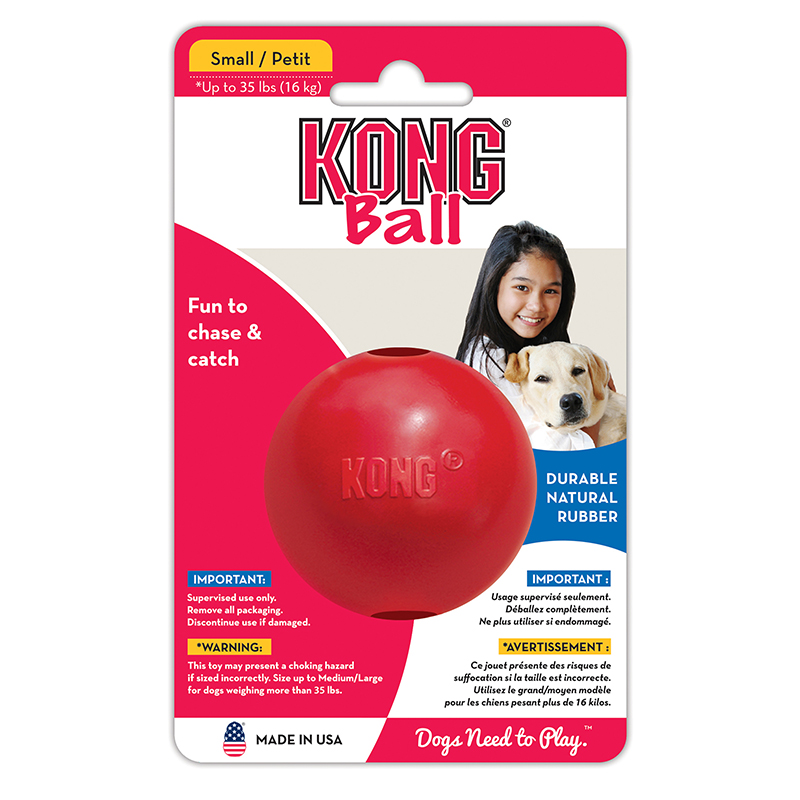 Kong Ball for Dogs, Red 2.5 inch
