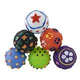 Vinyl Assorted Balls for Dogs Pack of 6 2 inches