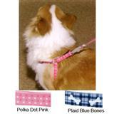 Plaid Bones/Polka Dot Harnesses for Dogs 3360b