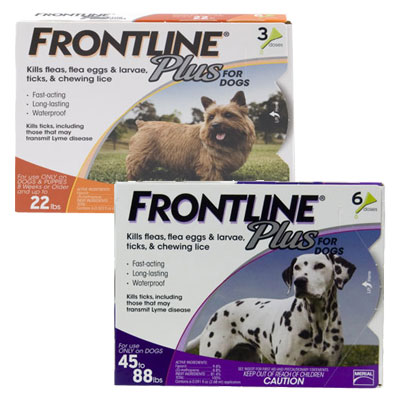 Frontline Plus for Dogs 40543e