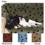 Plush Paw Fleece Blanket Throw for Furniture 43620b