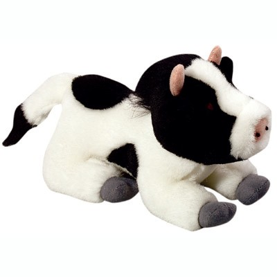 Multipet Look Who's Talking Plush Cow Dog Toy 45351