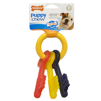 Nylabone Puppy Teething Keys Chew Toy 6019B