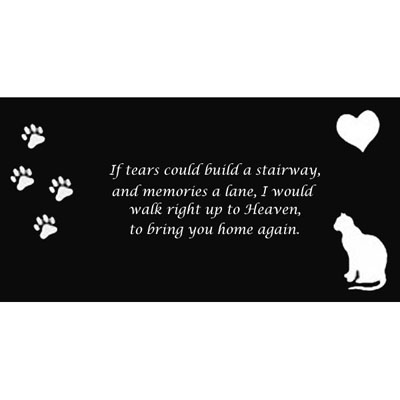 Granite Personalized Memorial Stone With Your Pet's Picture 47101e
