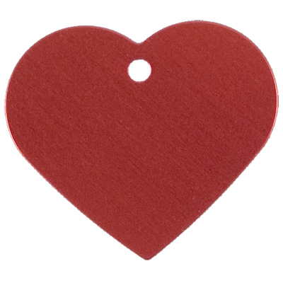 Large Red Heart ID Tag 49692