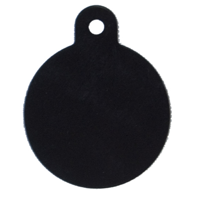Personalized Large Round Black ID Tag 49696