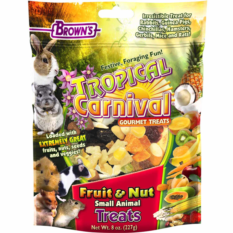 FM Brown's Tropical Carnival Fruit & Nut Small Animal Treat 8 oz. Bag 5226