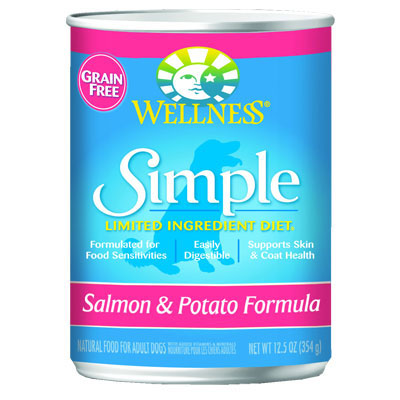 Wellness® Simple Limited Ingredient Diet Salmon & Potato Formula 12.5 oz. 54741