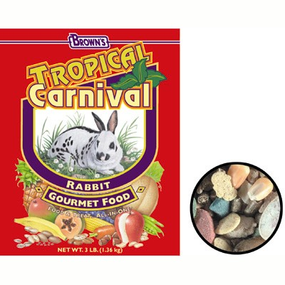 Rabbit Food Tropical Carnival 3 lbs.