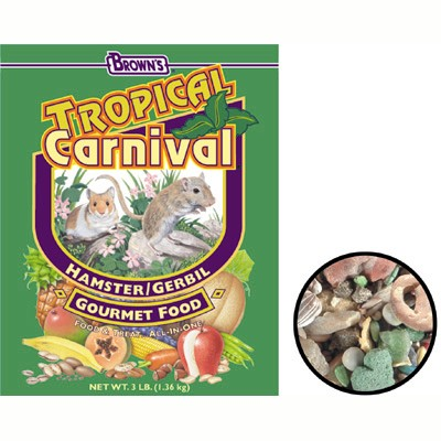 FM Brown's Tropical Carnival Hamster/Gerbil Food 2 Lb. 57073