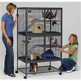 MidWest® Critter Nation™ Double Unit with Stand 36 in L x 24 in W x 63 in H 57103