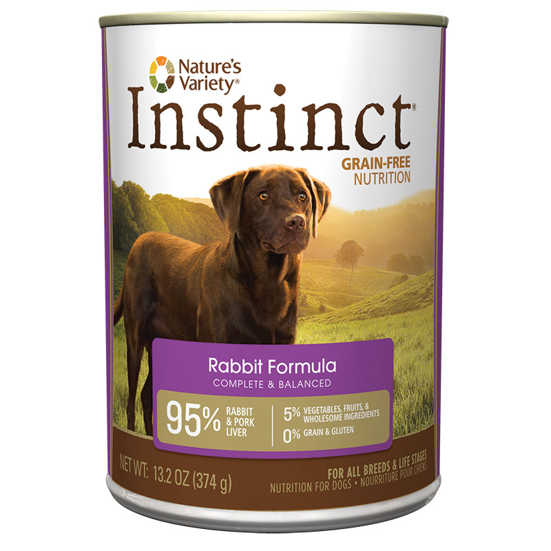 Nature's Variety Instinct Rabbit Dog Food 13.2 oz 60337