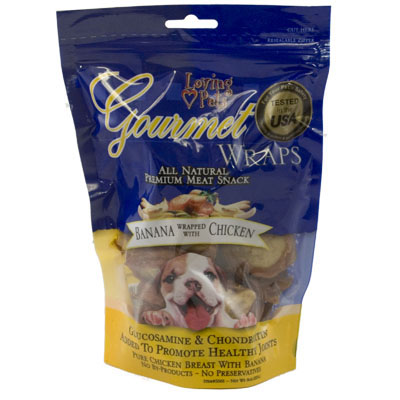 Loving Pets Gourmet Wraps Banana Wrapped with Chicken 6 oz. 610042
