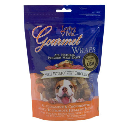 Loving Pets Gourmet Wraps Sweet Potato Wrapped with Chicken 6 oz. 610044