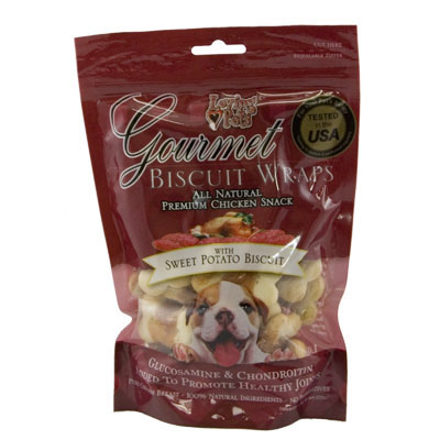Loving Pets Gourmet Wraps with Sweet Potato Biscuit 8 oz. 610045