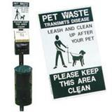 DOGIPOT® Pet Station With Lid Pets On Leash Sign 65151