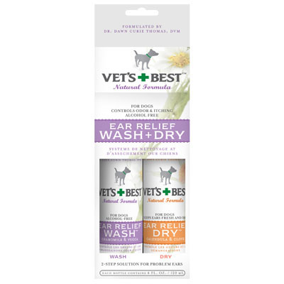 Veterinarians Best Ear Relief Wash and Dry ™ Combo 6807