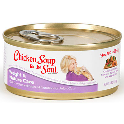 Chicken Soup for the Soul® Weight & Mature Care Wet Cat Food 5.5 oz.