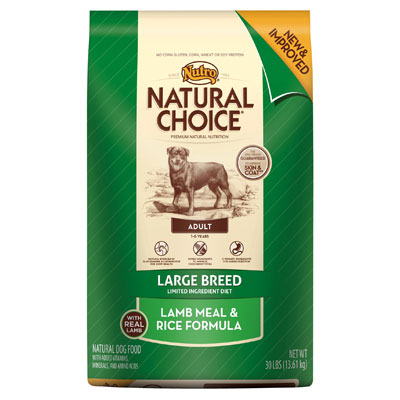 Nutro Natural Choice Large Breed Lamb & Rice Dog Food 35 lbs. 69394