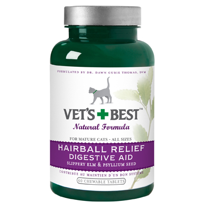 Veterinarian's Best Cat Lube Hairball & Digestive Aid Tablets 60 ct.
