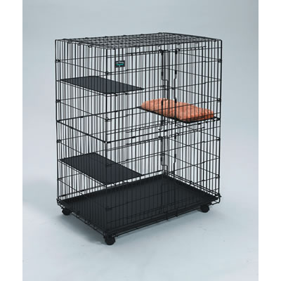 Midwest ® #130 Swing Front Double Door Cat Playpen 7483